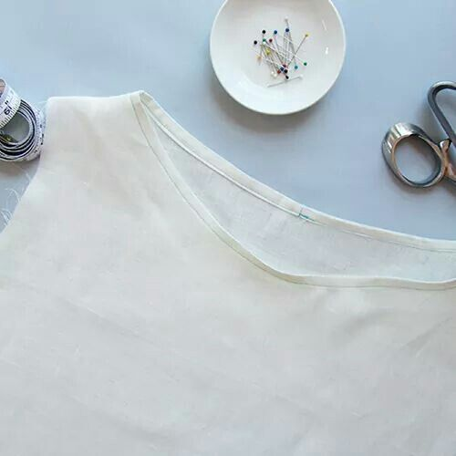 Sewing Glossary: How To Bind A Neckline Tutorial