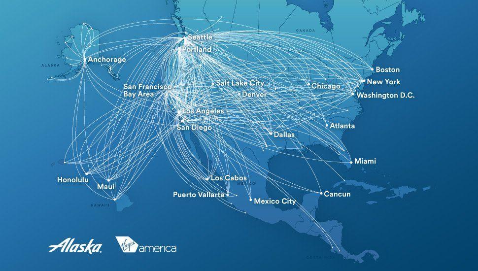 Route maps   Route map, Alaska airlines, Alaska