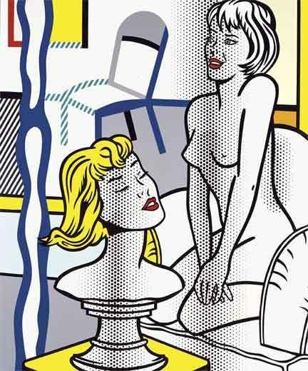 Nude with Bust, 1995, Roy Lichtenstein
