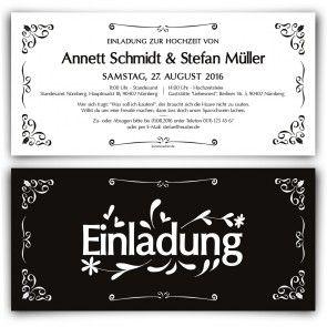 Hochzeitseinladungen   Schwarz Und Weiß #hochzeit #einladungskarte # Hochzeitseinladung #blackandwhite #schwarzweis #stilvoll #einladung  #papeterie # ...