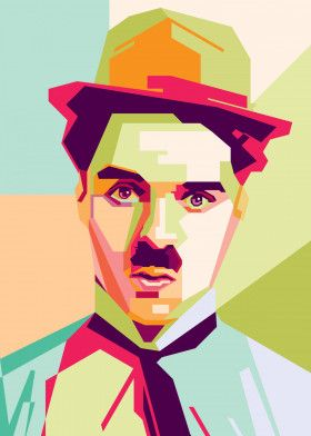 Charlie Chaplin | Displate thumbnail