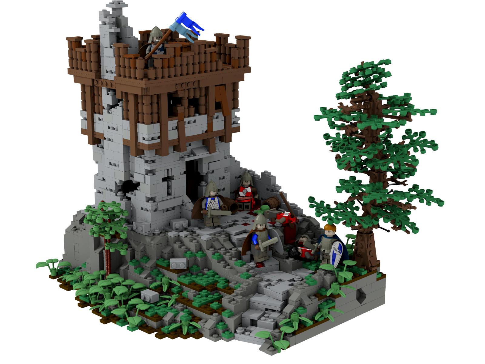 lego medieval village instructions