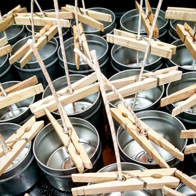 Making your own soy candles #candlemakingbusiness