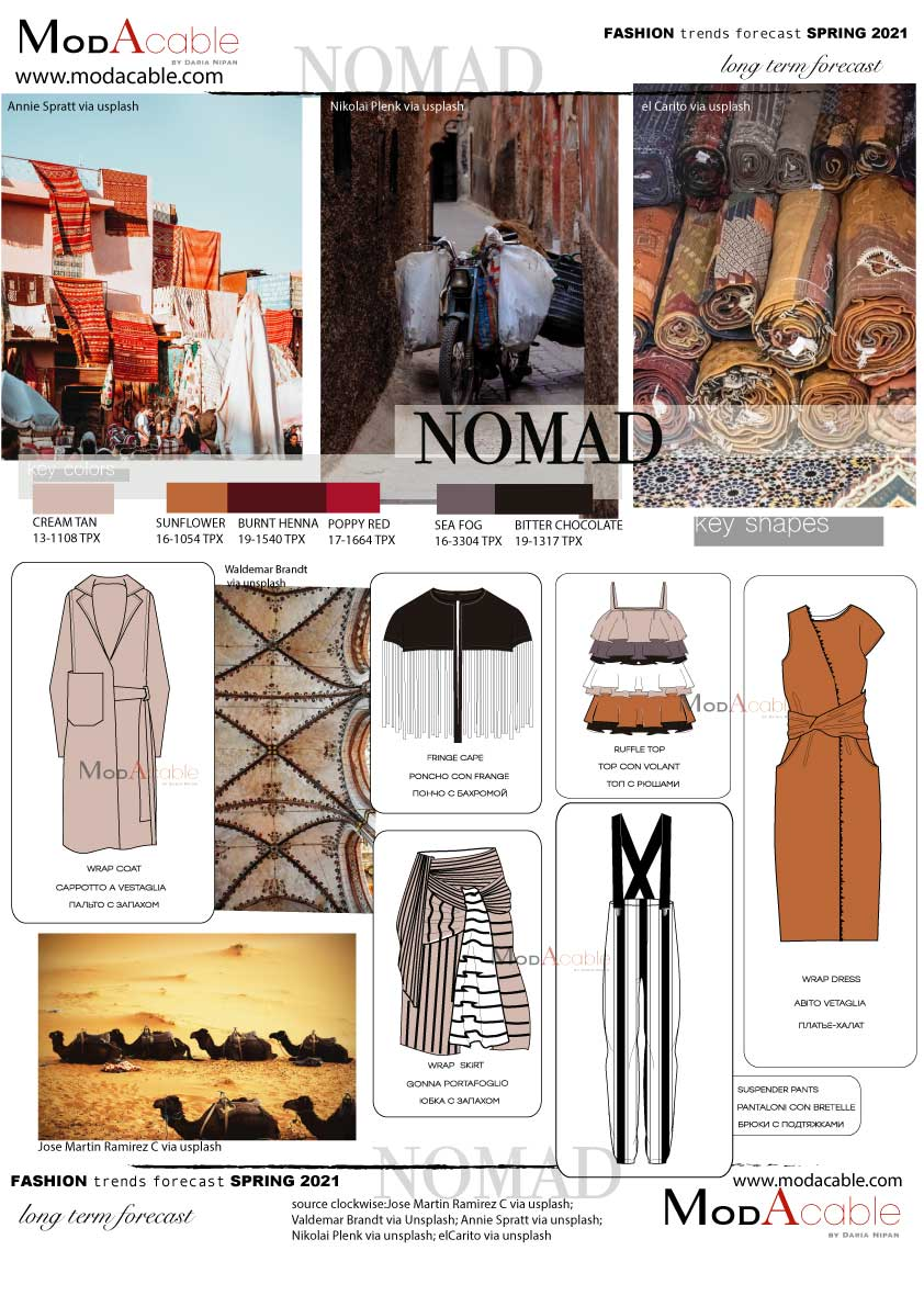 Spring 7 fashion trend Nomad  Fashion trend forecast, Nomad