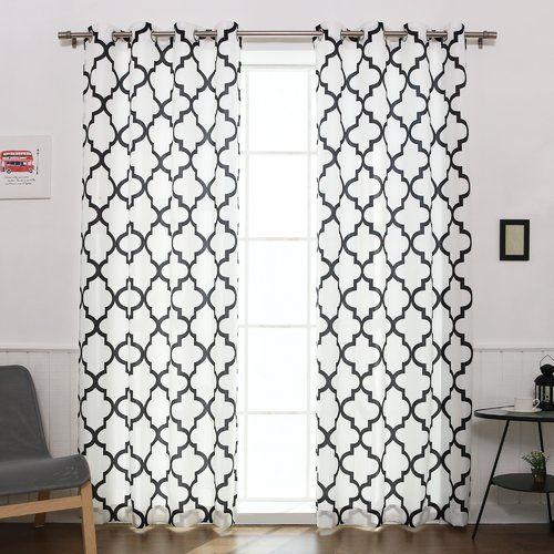 Found It At Wayfair Arrey Basketweave Curtain Panels Black