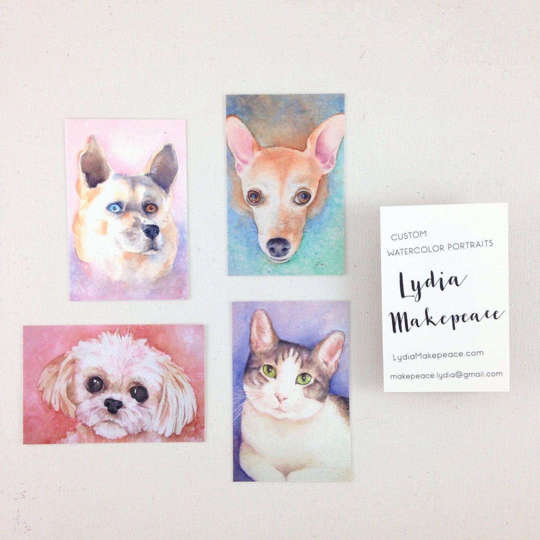 Custom Dog Portrait Painting - Pet Memorial - Pet Sympathy - Animal ...