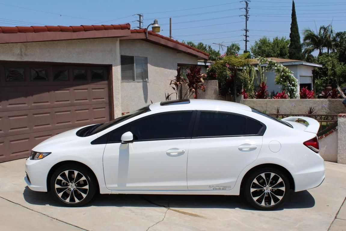 Honda Civic Si 2013 White Sedan I Love My Car Said The Grandmother