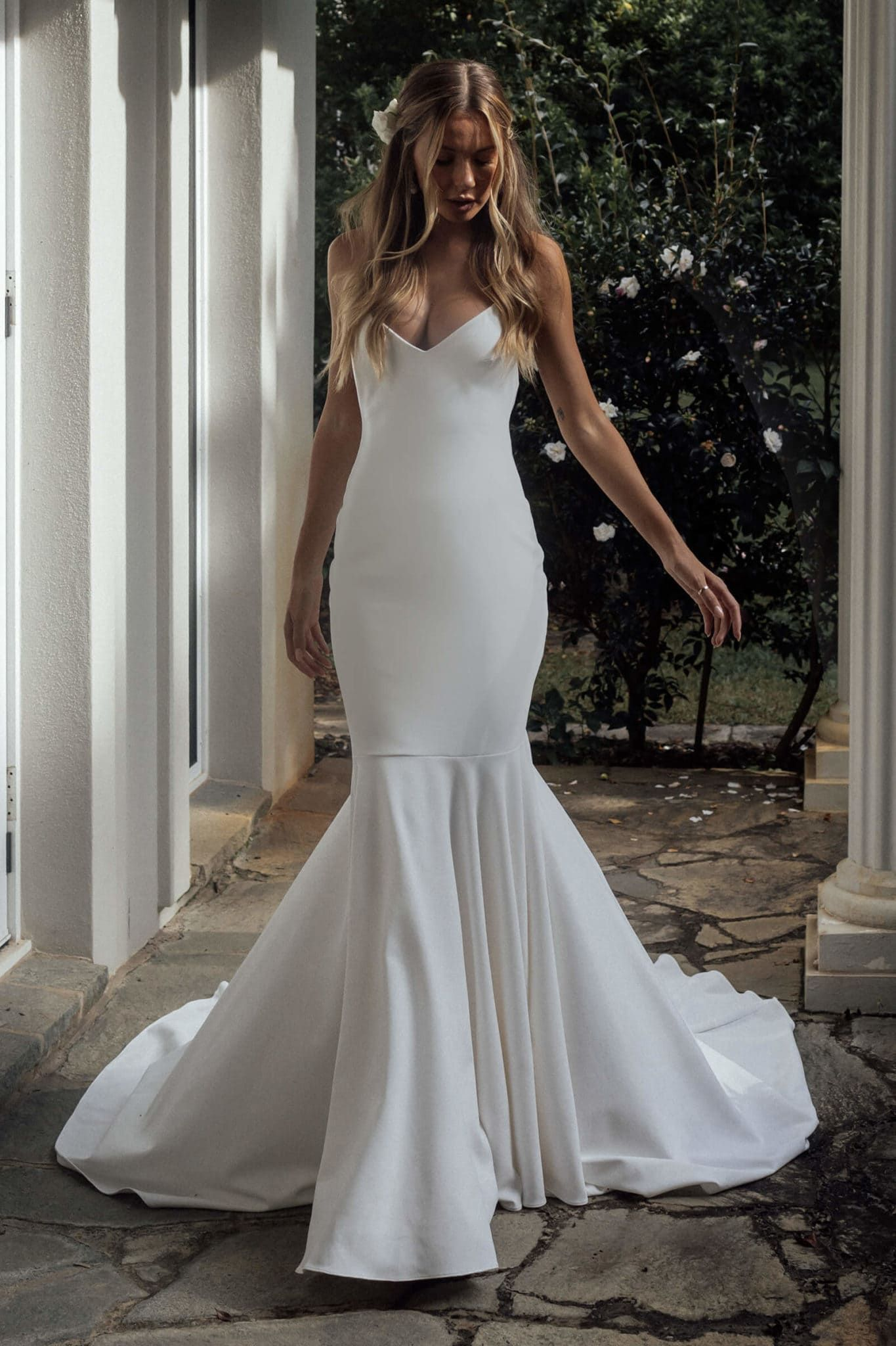 Clo Crepe Luxurious Wedding Dress Grace Loves Lace in