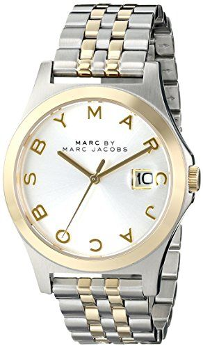 d088106d30fb8 Marc by Marc Jacobs Women's MBM3319 The slim Analog Display Analog Quartz  Two Tone Watch