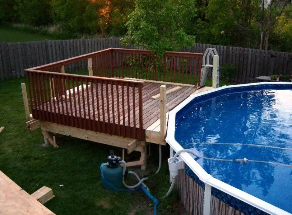 Above Ground Pools Deck Designs | backyard | Pinterest | Ground ...