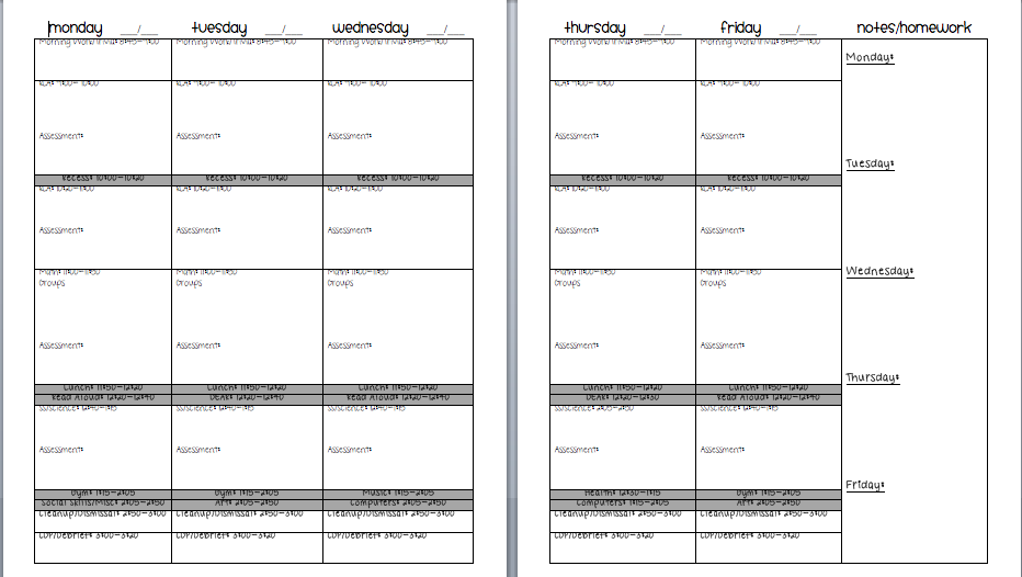 Stunning Block Lesson Plan Template Pictures Inspiration Example - Weekly lesson plan template doc