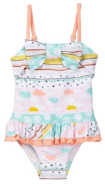 Floatimini Stars & Clouds Front Bow One-Piece Suit (Toddler, Little Girls, & Big Girls)