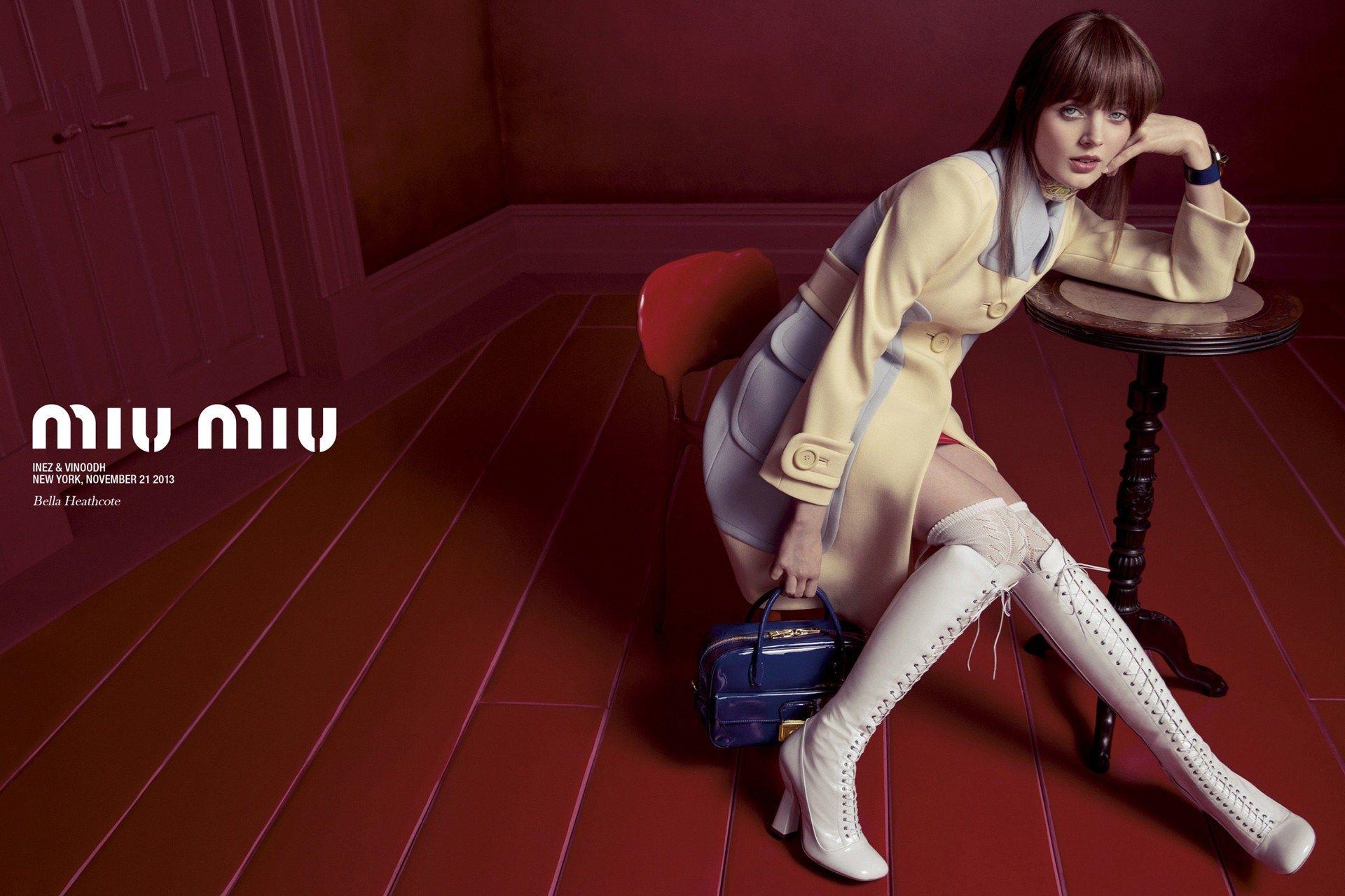 b71491c37d5 Miu Miu Campaign Stars Lupita Nyongo and Elle Fanning (Vogue.com UK ...