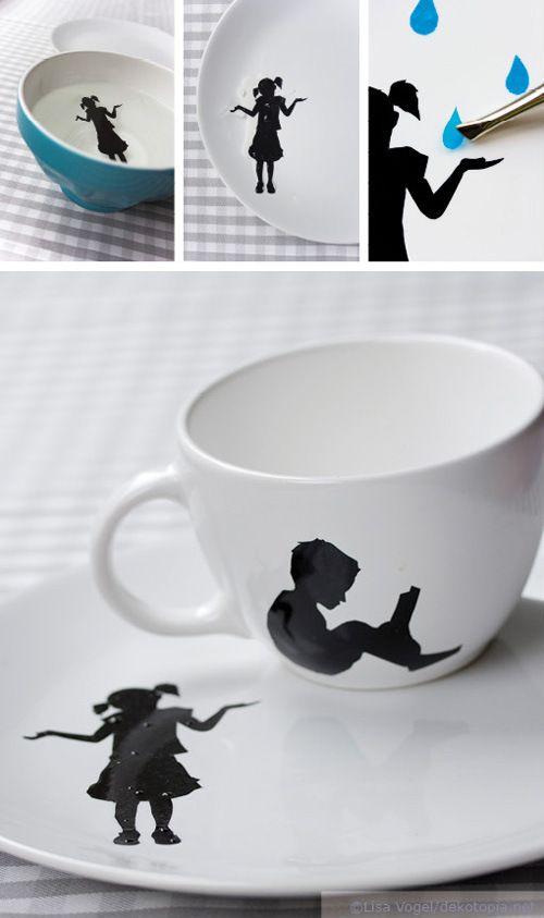 porzellan mit kinder motiv porzellan bemalen porzellan. Black Bedroom Furniture Sets. Home Design Ideas