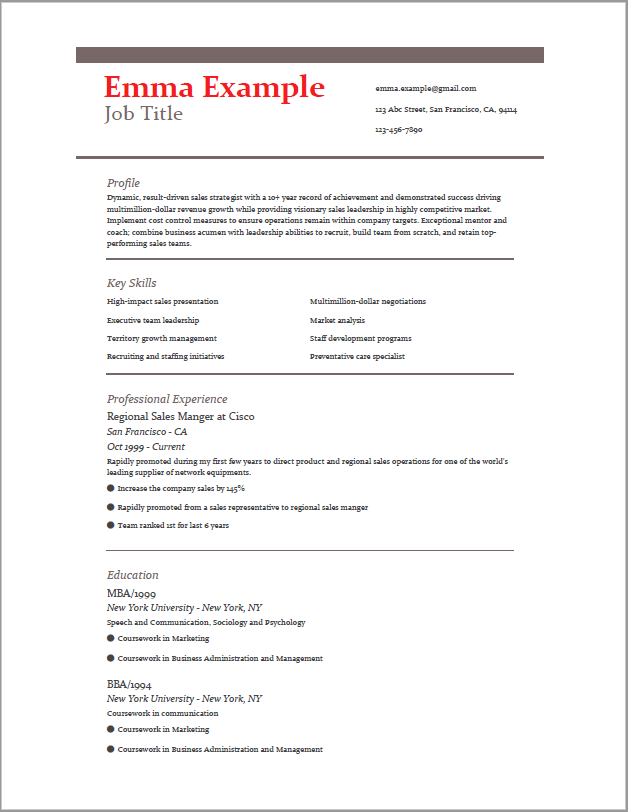 Resume | Job resume template, Resume design template, Resume