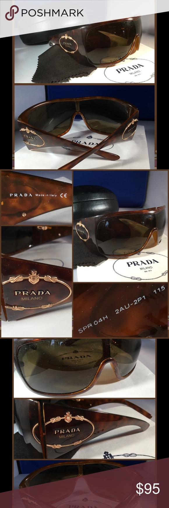 ddfb1bab37 PRADA Tortoise Havana Milano Shield Sunglasses  14 Gorgeous ...