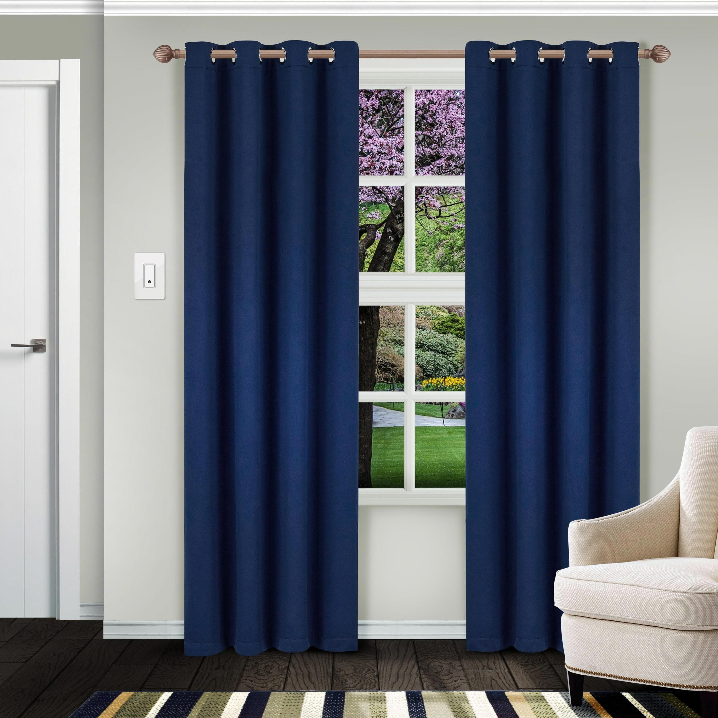 Superior Solid Insulated Thermal Blackout Grommet Curtain Panel
