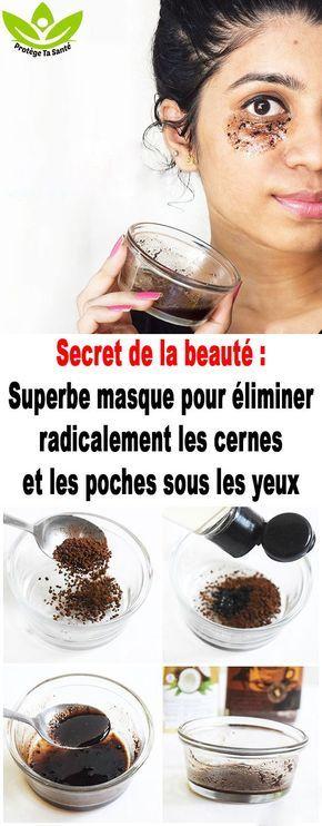 Secret de la beauté : Superbe masque pour éliminer radicalement les cernes et les poches sous les yeux