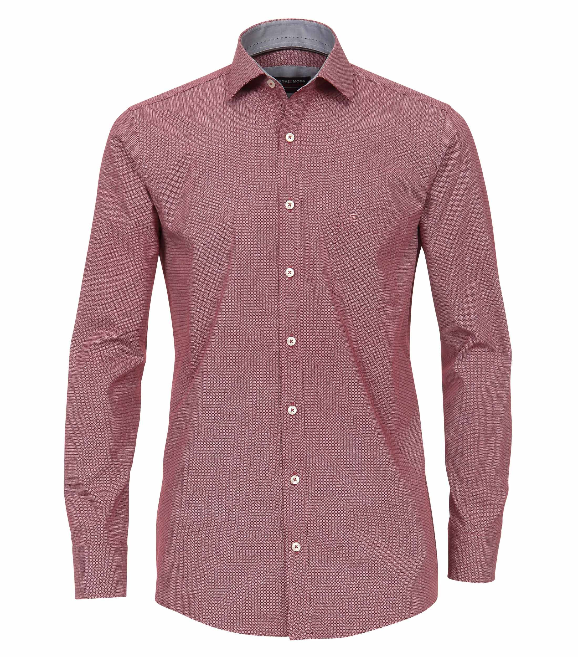 Het Overhemd.Lange Mouw Overhemd Met Mini Print In De Kleur Rood Van Het Merk