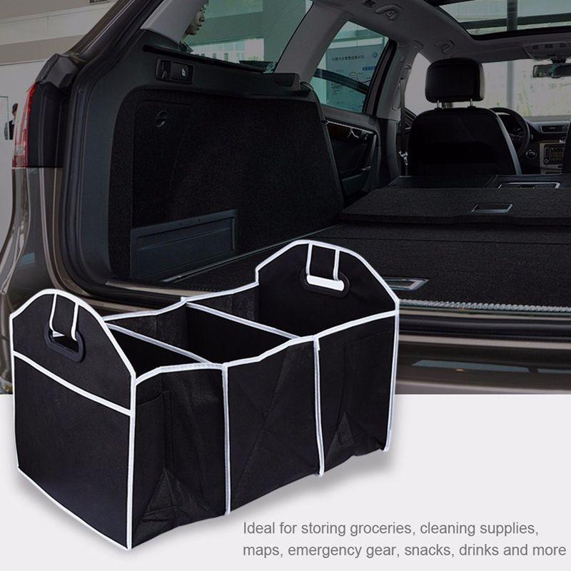 Car Organizer Boot Stuff Food Storage Bags Trunk Organiser Automobile Stowing Tidying Interior Access Car Trunk Organization Trunk Organization Car Storage Bag