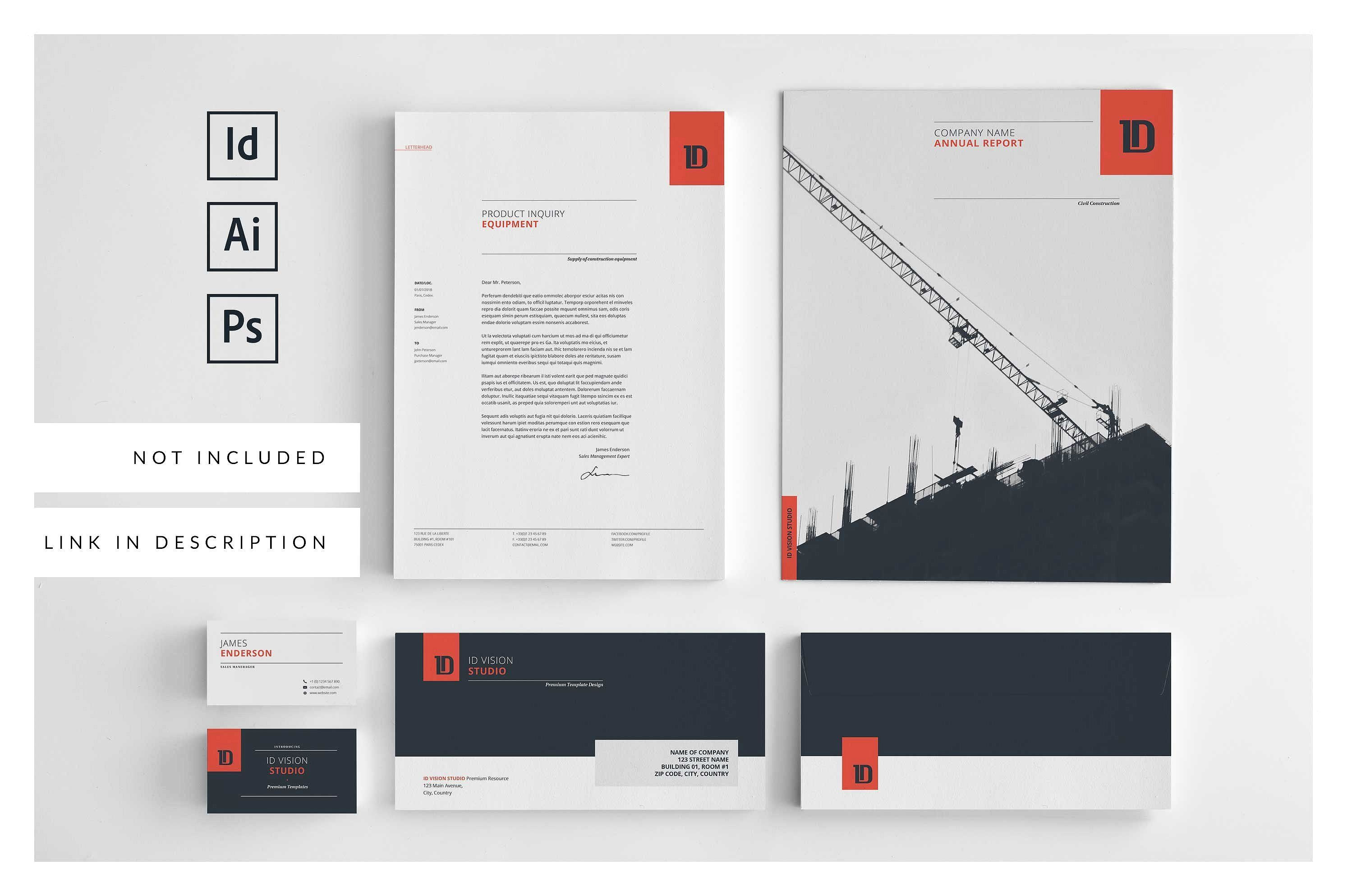Annual Report Template  By Id Vision Studio On Creativemarket