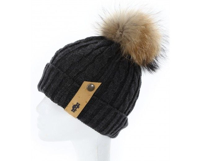 62b0b64e1d9 Holland-Cooper-Chunky Knit Fur Bobble Hat with Tab (Charcoal)-33 ...