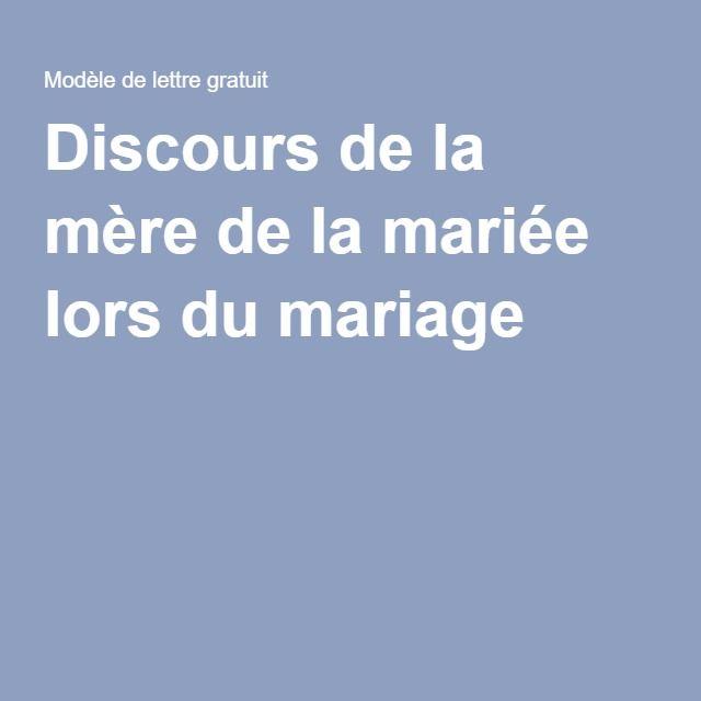 Discours De La Mère De La Mariée Lors Du Mariage La Mère