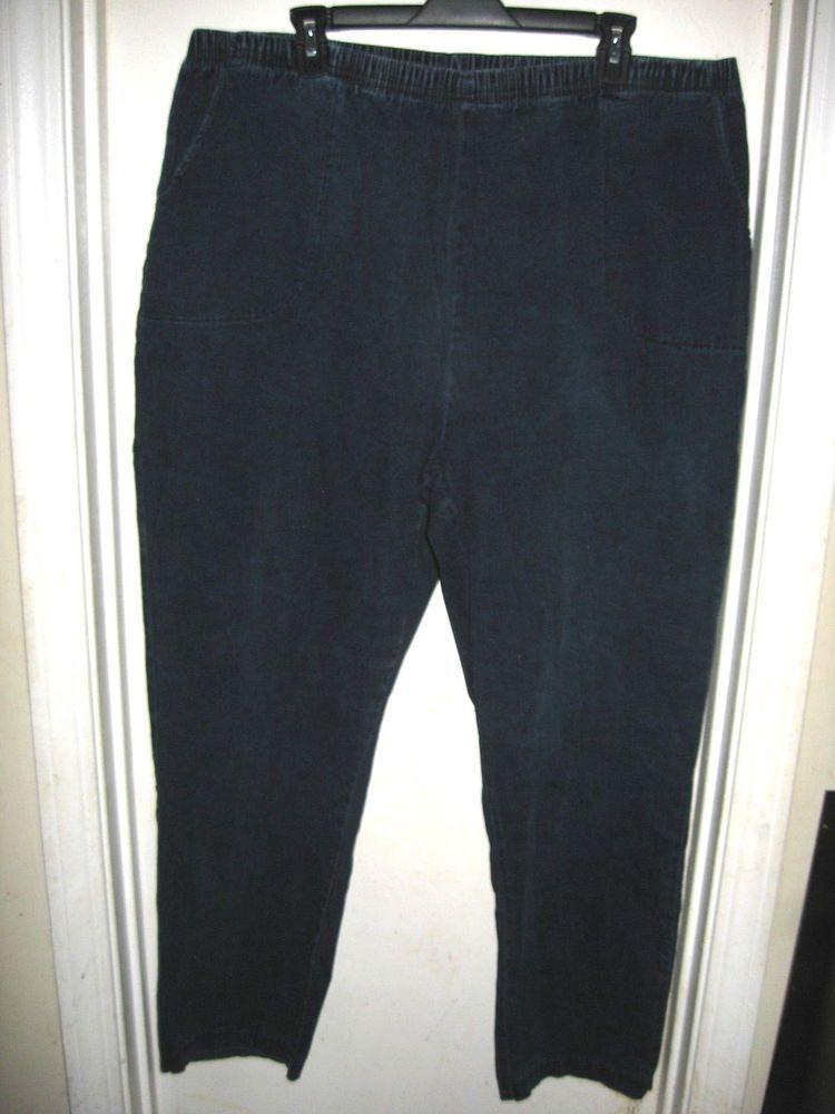 ae5cdda4b4 Croft   Barrow Woman Stretch Pull-On Elastic Waist Denim Blue Jeans 3X   CroftBarrow  StraightLeg