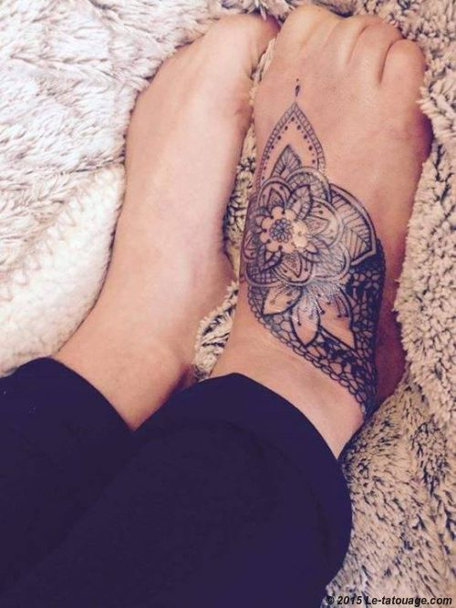 tatouage femme pied mandala recherche google tattoo pinterest mandalas et recherche. Black Bedroom Furniture Sets. Home Design Ideas