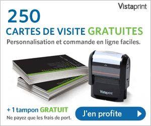 Offre Gratuite Vistaprint 250 Cartes De Visite 1 Tampon Encreur Hors Frais Port