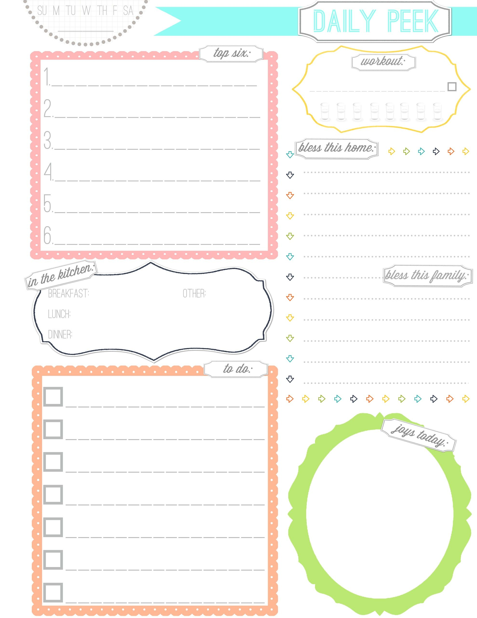 Free Daily Planner Printable From The Ivy Twines