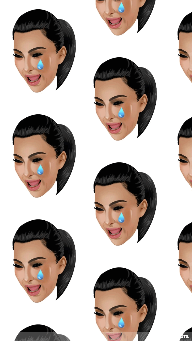 Kimoji Png 640 1136 Kim Kardashian Wallpaper Funny Phone Wallpaper Emoji Wallpaper