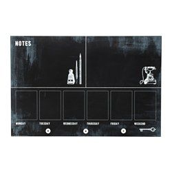IKEA - MÅLARNA, Blackboard planner, You can hang keys and