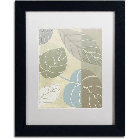 Trademark Fine Art Leaf Story VI Canvas Art by Color Bakery White Matte, Black Frame, Assorted