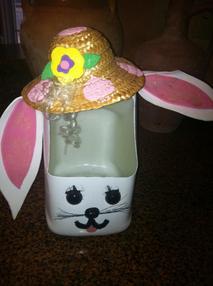 Diy milk jug easter basket cut opening spray paint decorate and diy milk jug easter basket cut opening spray paint decorate and add grass negle Choice Image