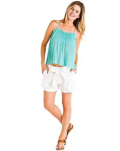 """Some of you have to get in on this: Oonagh by Nanette Lepore """"Tony"""" Ivory Linen Short"""