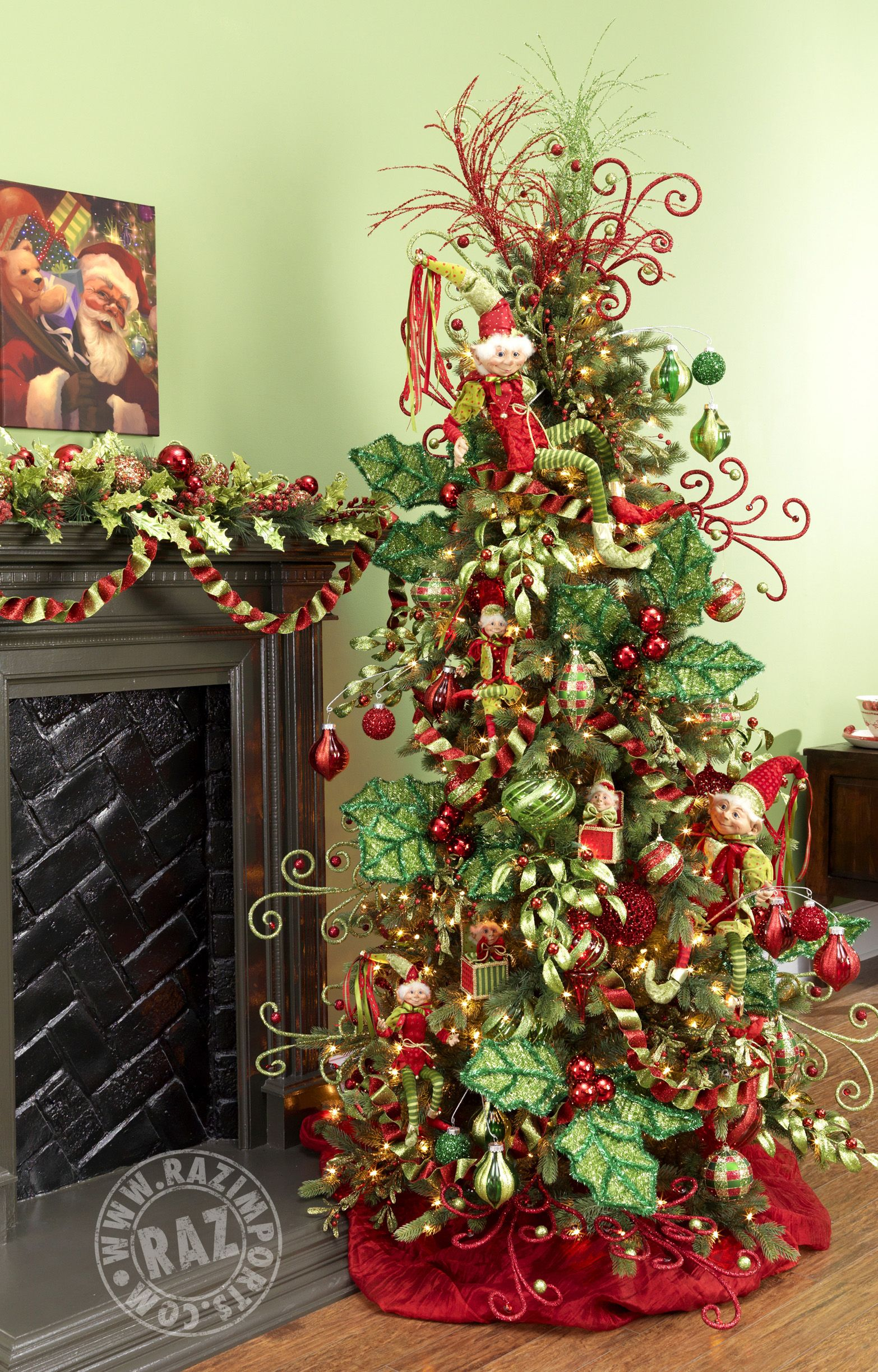 Raz Imports Seasonal Wholesale Importer Elf Christmas Tree Christmas Tree Themes Amazing Christmas Trees
