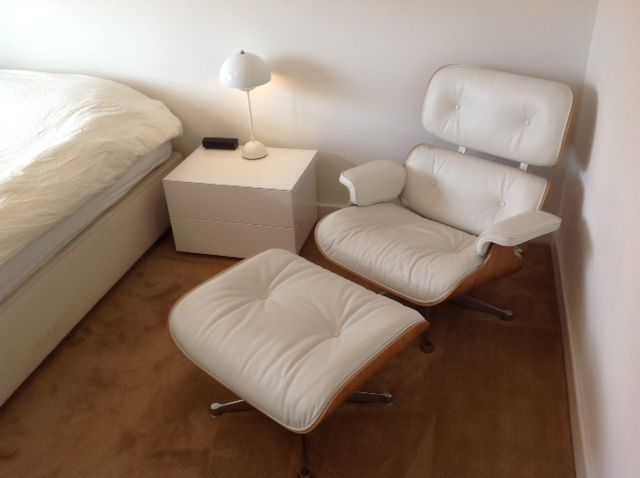 Eames Lounge Chair White Version From Vitra   Couch Potato Company
