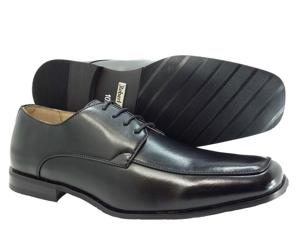 Mens Oxfords Dress Shoes Lace Up Loafers Classic Casual Black Robert Gate