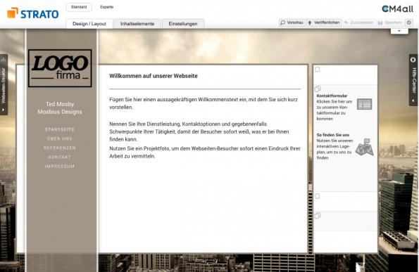 Homepage Baukasten Die Wichtigsten Anbieter Im Vergleich Logo Firma Bau Webseite