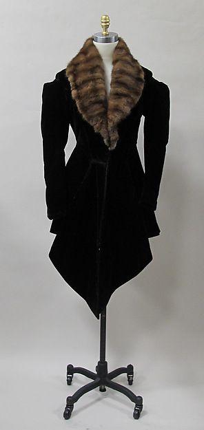 Charles James Coat, 1934, American, silk, fur