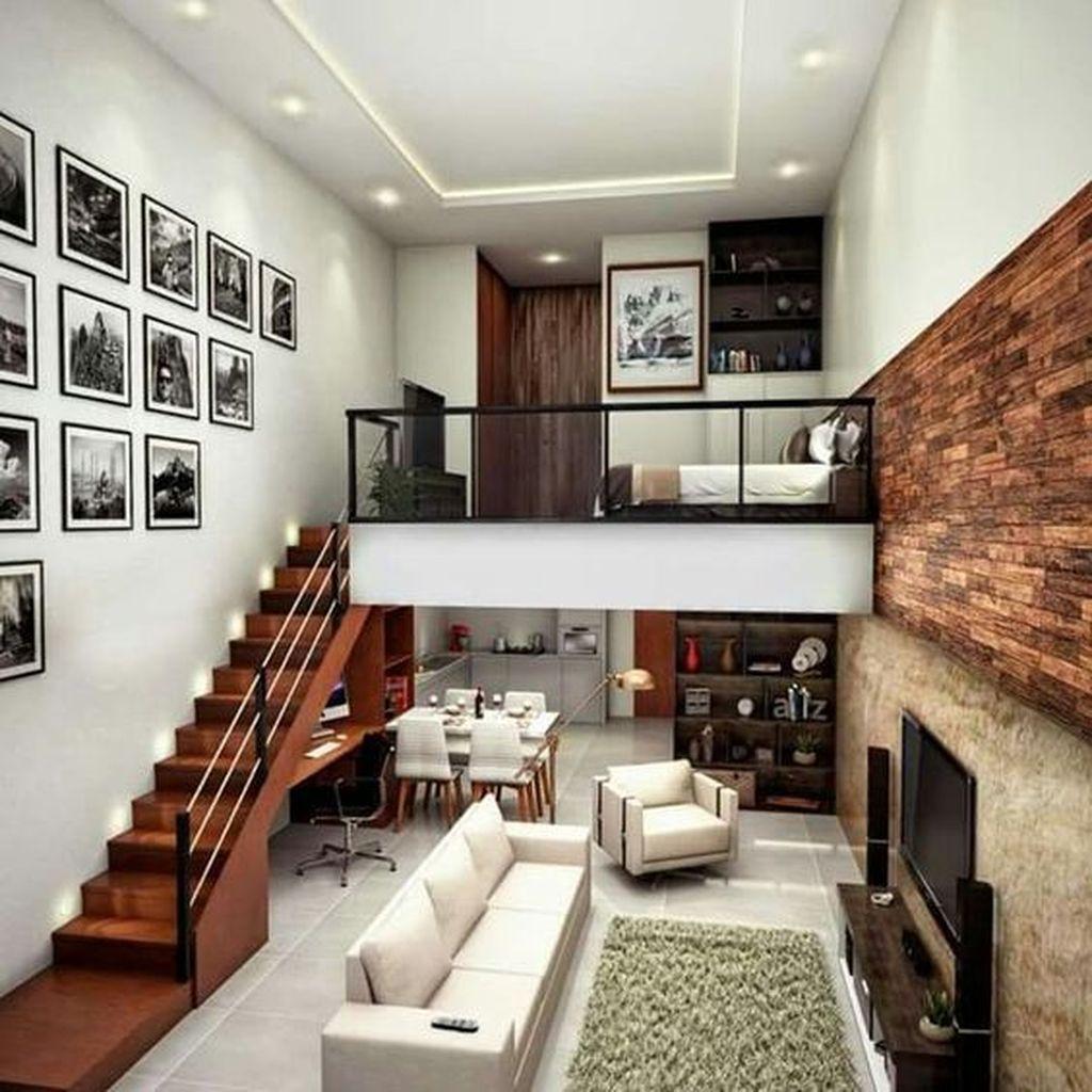 25 Amazing Interior Design Ideas For Modern Loft Godiygo Com Loft House Tiny House Design Modern Tiny House