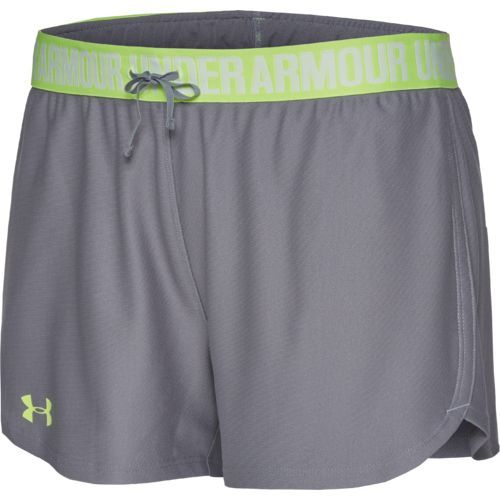 Under Armour Women's Play Up Short (Steel/X-Ray, Size Large) - Women's Athletic Apparel, Women's Athletic Performance Bottoms at Academy Sports
