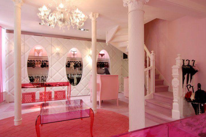 chantal thomass lingerie store design on rue saint-honore paris