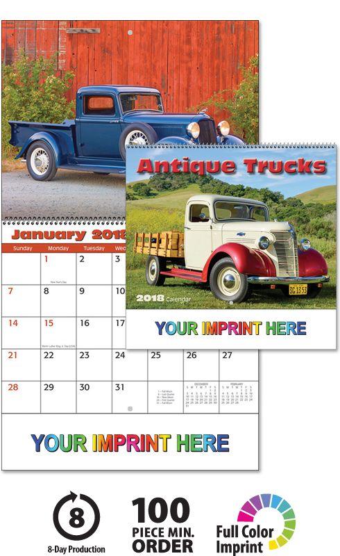 2018 Antique Truck Calendar 2018 Imprinted Calendars 2018
