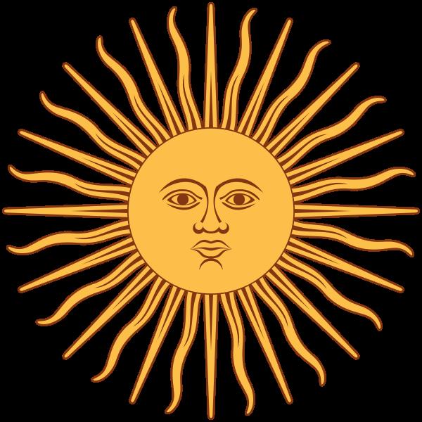 La Historia Es El Molde Del Hombre Inti Dios Inca Del Sol Sun Art Argentina Flag Public Domain Clip Art