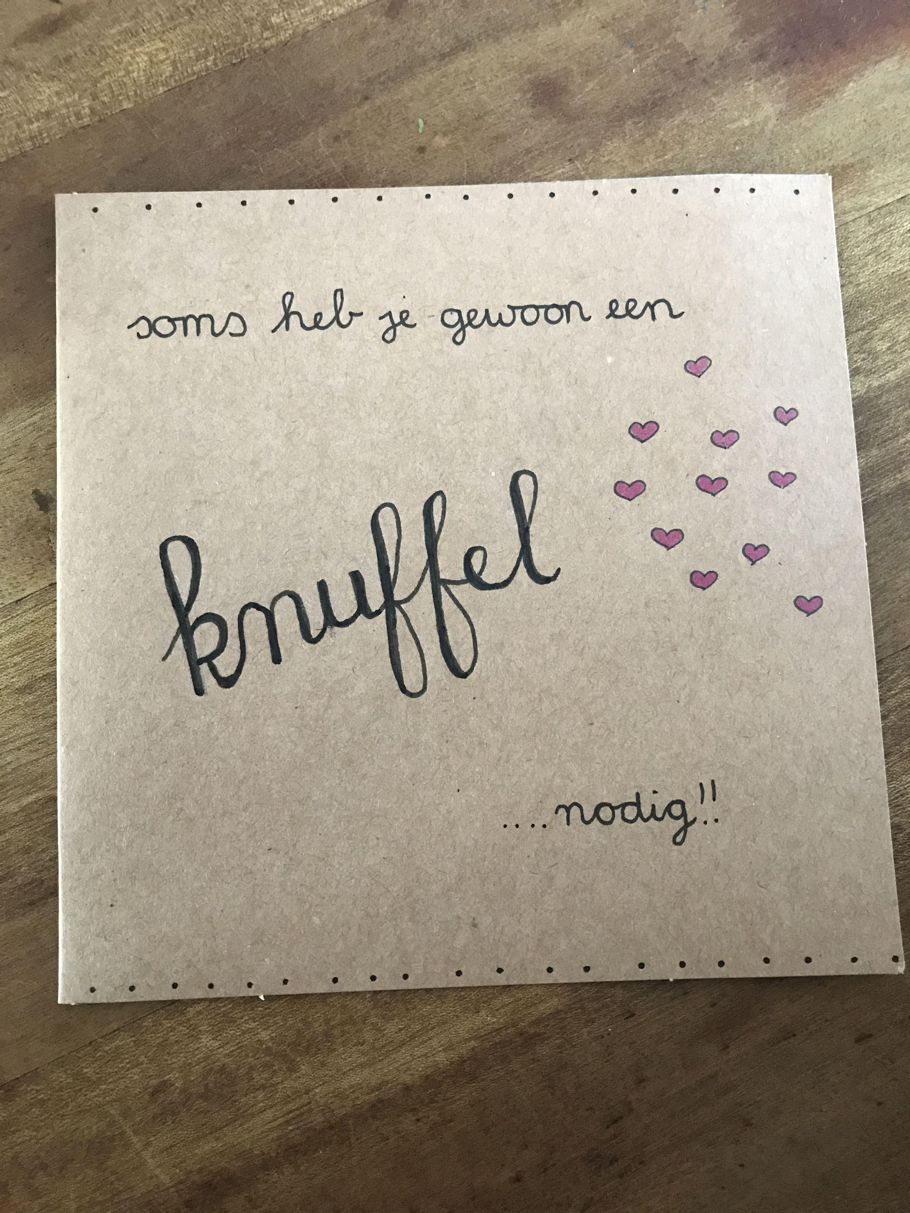 Populair Handletteren- dikke knuffel kaart | Handlettering | Pinterest #VP48