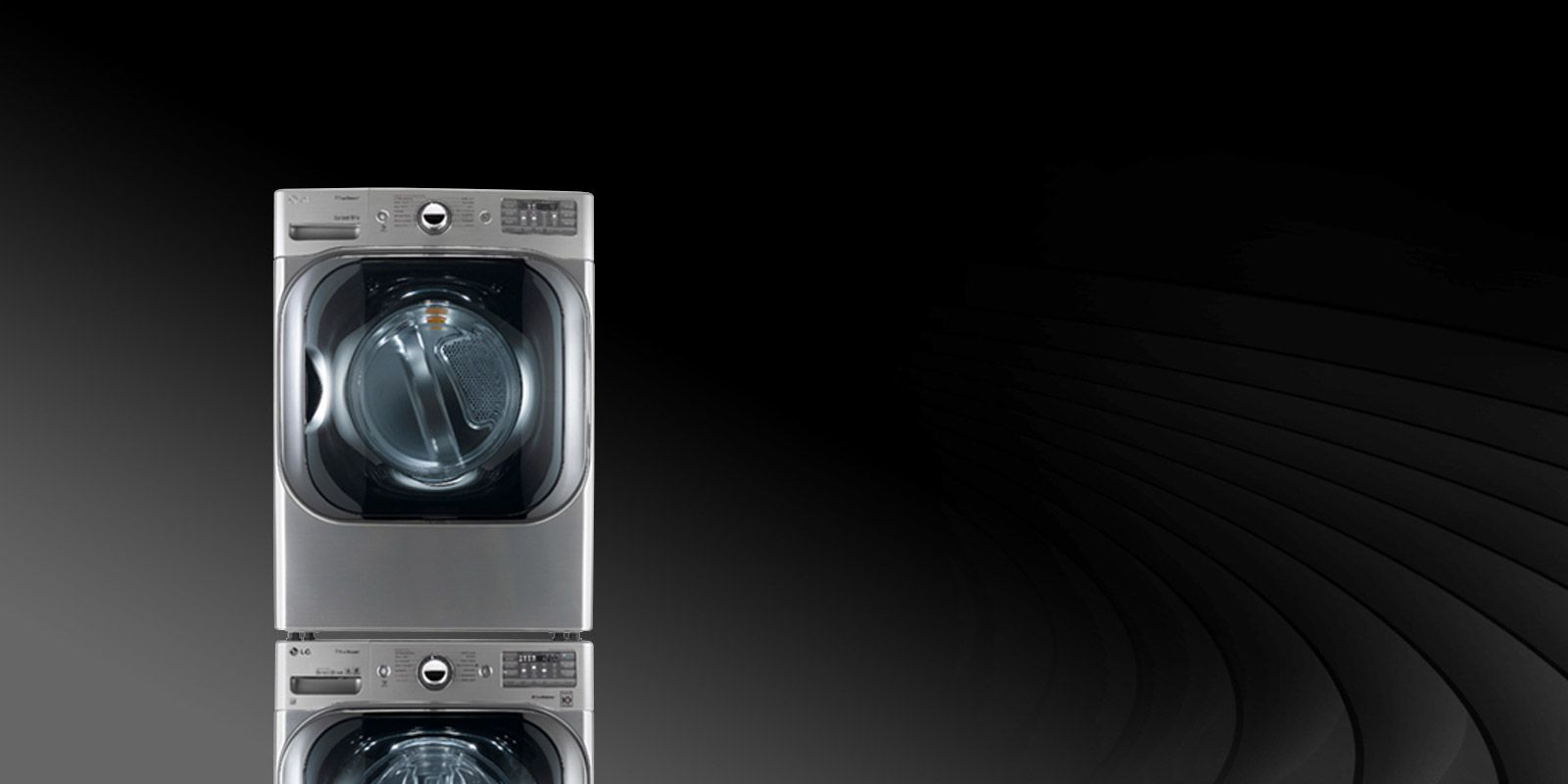 Front View Of An Lg Laundry Appliance Lg Washer And Dryer Laundry Laundry Appliances