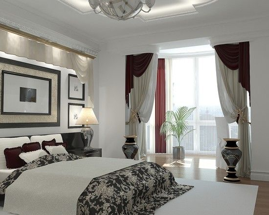 Spaces Bedroom Window Treatments Design, Pictures, Remodel, Decor and Ideas - page 12