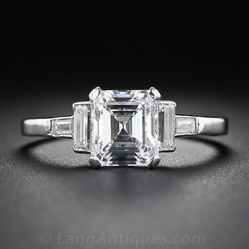 Photo of I love the Asscher cut and the baguettes 1.44 Carat E-Internally flawless …